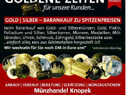 öffnungszeiten Münzenhandel Knopek Alter Markt 55